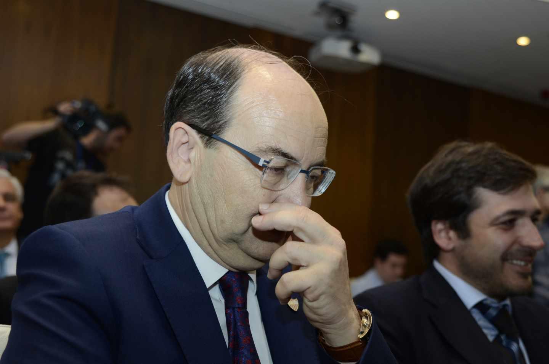 El presidente del Sevilla FC, José Castro, en un acto oficial.