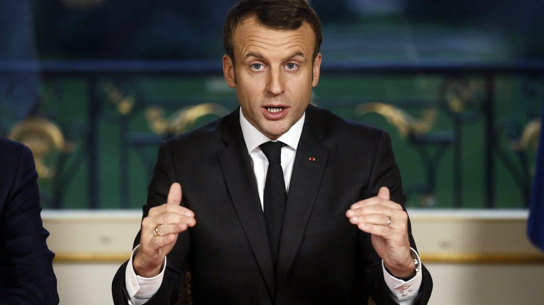 Emmanuel Macron, presidente de Francia, en una intervención ante la prensa.