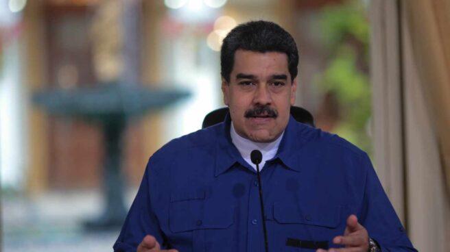 El presidente venezolano, Nicolás Maduro, en una intervención en la cadena pública de radio y televisión.