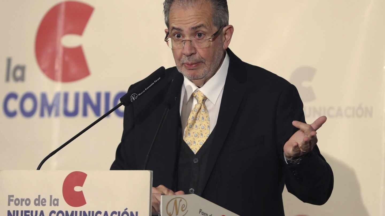 El presidente editor de El Nacional, Miguel H. Otero, en su intervención en Nueva Economía Forum.
