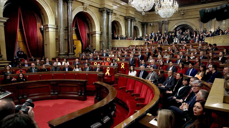 El Parlament de Cataluña, durante la sesión de constitución de la nueva legislatura.