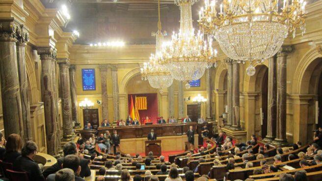 Discurso de Puigdemont en el Parlament.