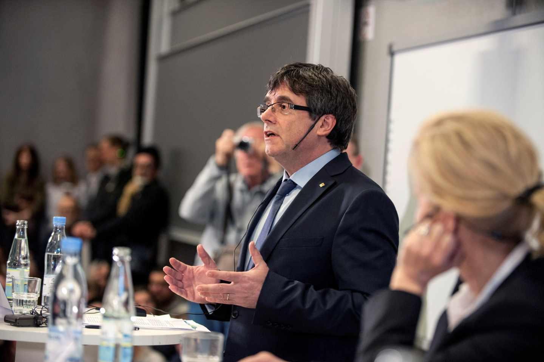 Conferencia de Carles Puigdemont en Copenhague.