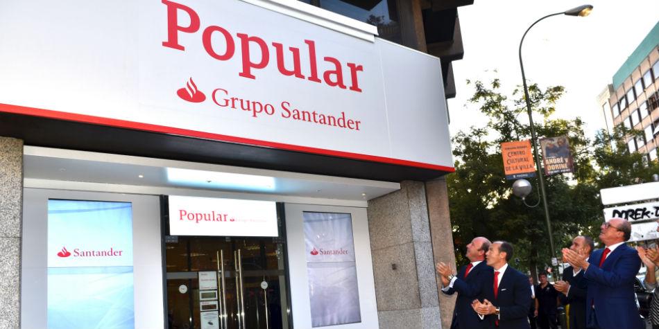 Santander recupera la gestión de los cajeros y las tarjetas de Popular