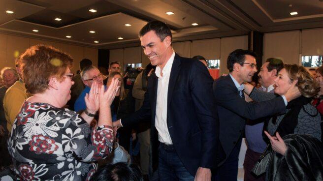 Pedro Sánchez, en la primera Asamblea Abierta del PSOE, en Granada.