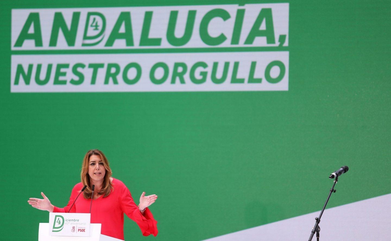 La presidenta de la Junta de Andalucía, Susana Díaz, en un acto público.