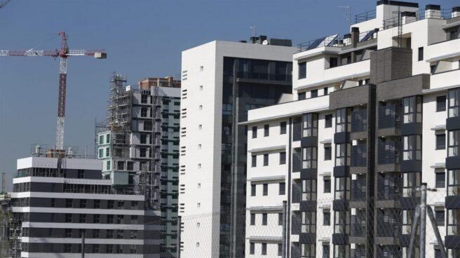Bloques de viviendas en construcción en Madrid.
