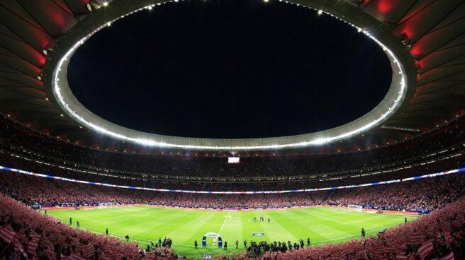 Panorámica del Wanda Metropolitano en un partido del Atlético de Madrid.