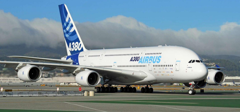 Un avión del modelo Airbus A380.