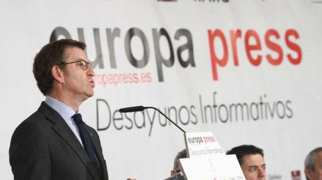 El presidente de la Xunta de Galicia, Alberto Núñez Feijóo, en un desayuno informativo de Europa Press.