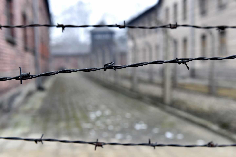 Campo de concentración de Auschwitz, durante el aniversario de su liberación.