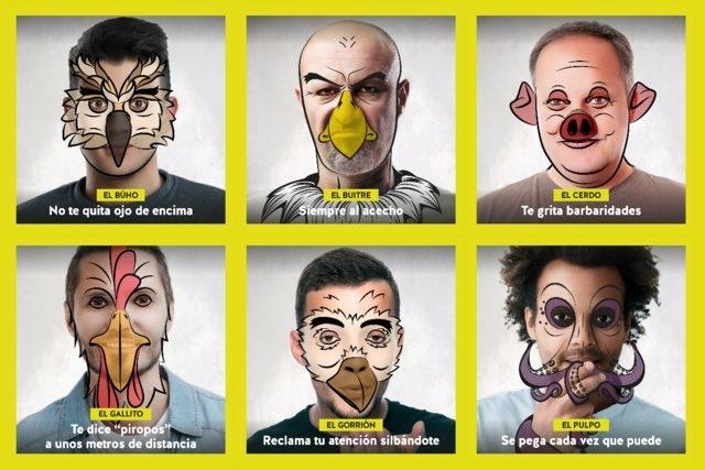 Campaña de la Junta de Andalucía #NoSeasAnimal contra el acoso sexual callejero.