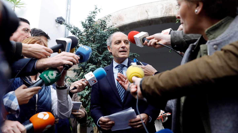 Francisco Camps, este miércoles a la salida del Consejo Jurídico Consultivo.