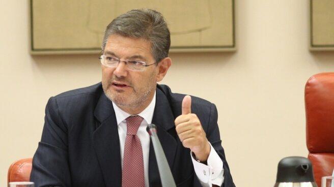 El ministro de Justicia, Rafael Catalá, en una comparecencia en el Senado.
