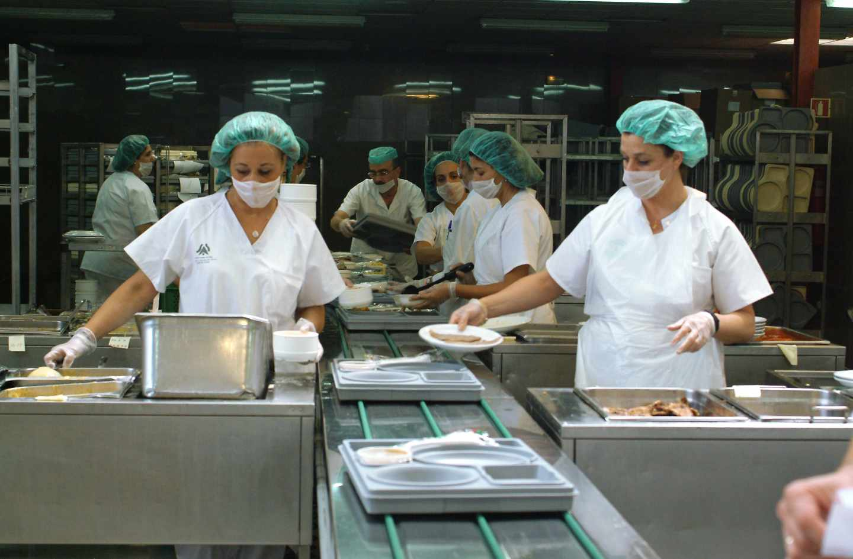 Cocina de un hospital español