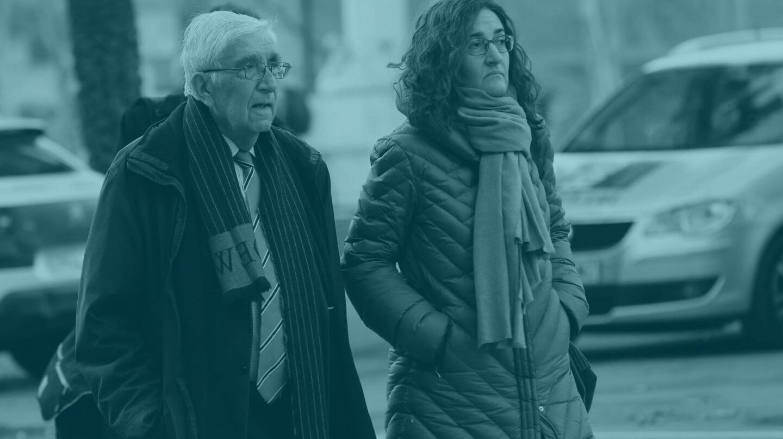 El ex tesorero de Convergéncia Democrática de Catalunya (CDC), Daniel Osácar, a su salida de la Audiencia de Barcelona.