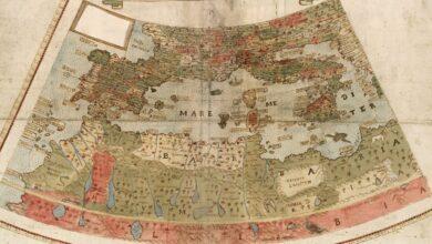 Navegando por un mapamundi del siglo XVI