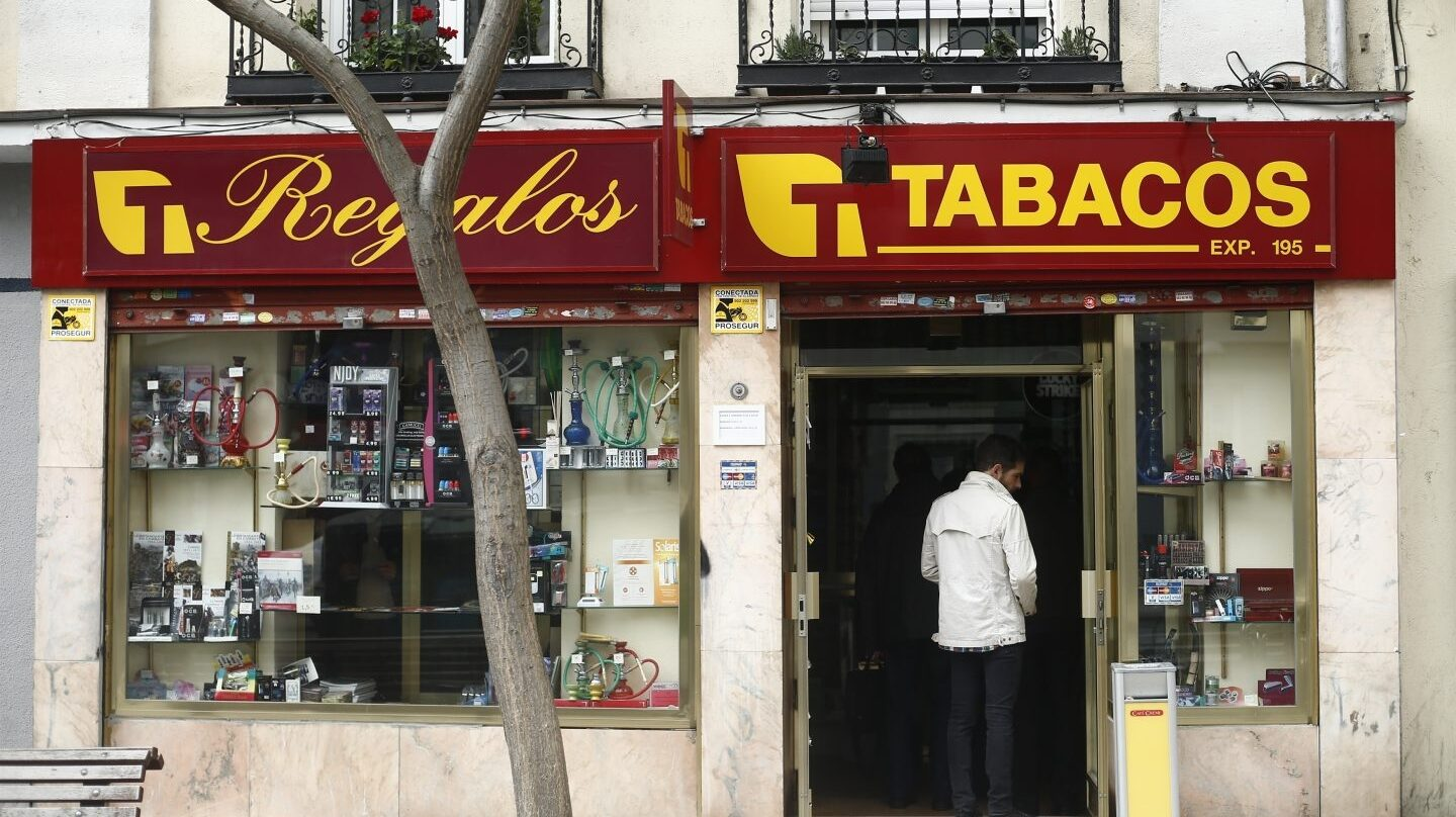 Estanco de tabaco en Madrid.