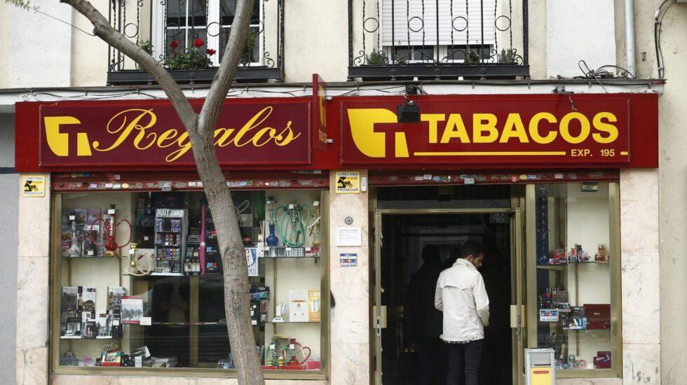 Estanco de tabaco en Madrid.