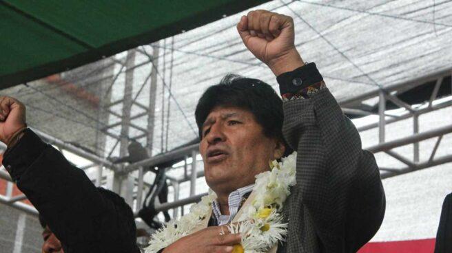 El presidente de Bolivia, Evo Morales, durante un acto institucional el pasado mes de enero.