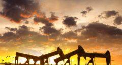 Campo de extracción de gas mediante fractura hidráulica o 'fracking'.