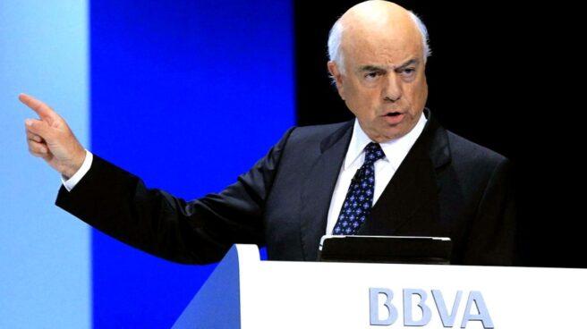 Francisco González, en una comparecencia durante su etapa como presidente de honor del BBVA.