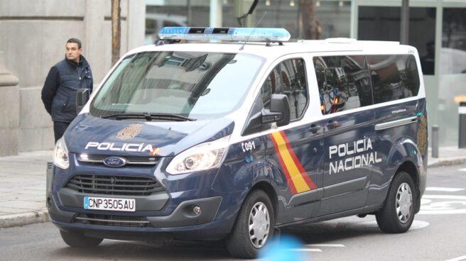 El furgón policial que ha trasladado a Oriol Junqueras al Tribunal Supremo.