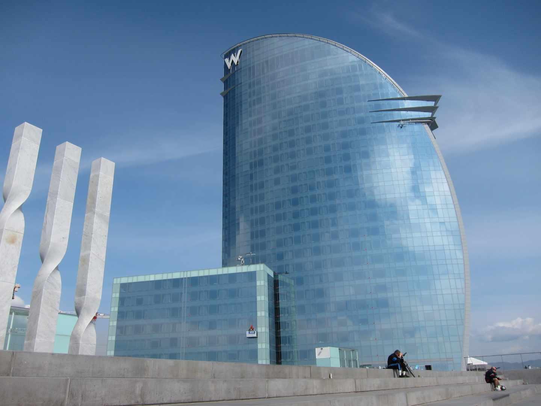 El hotel W de Barcelona.