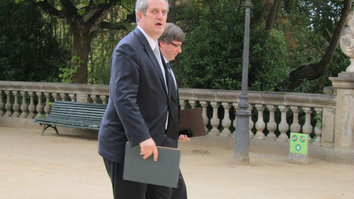 Joaquim Forn y Carles Puigdemont.