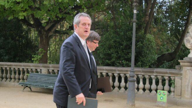 Joaquim Forn y Carles Puigdemont.