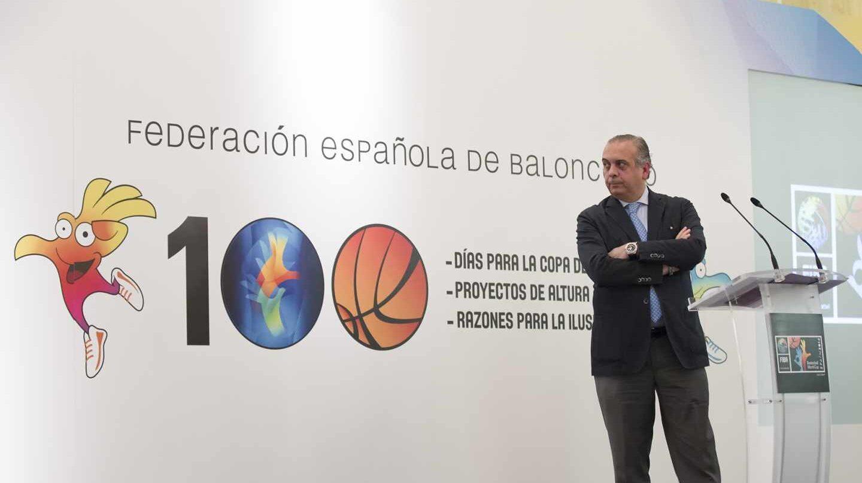 José Luis Sáez, durante un acto promocional de la Copa del Mundo 2014.
