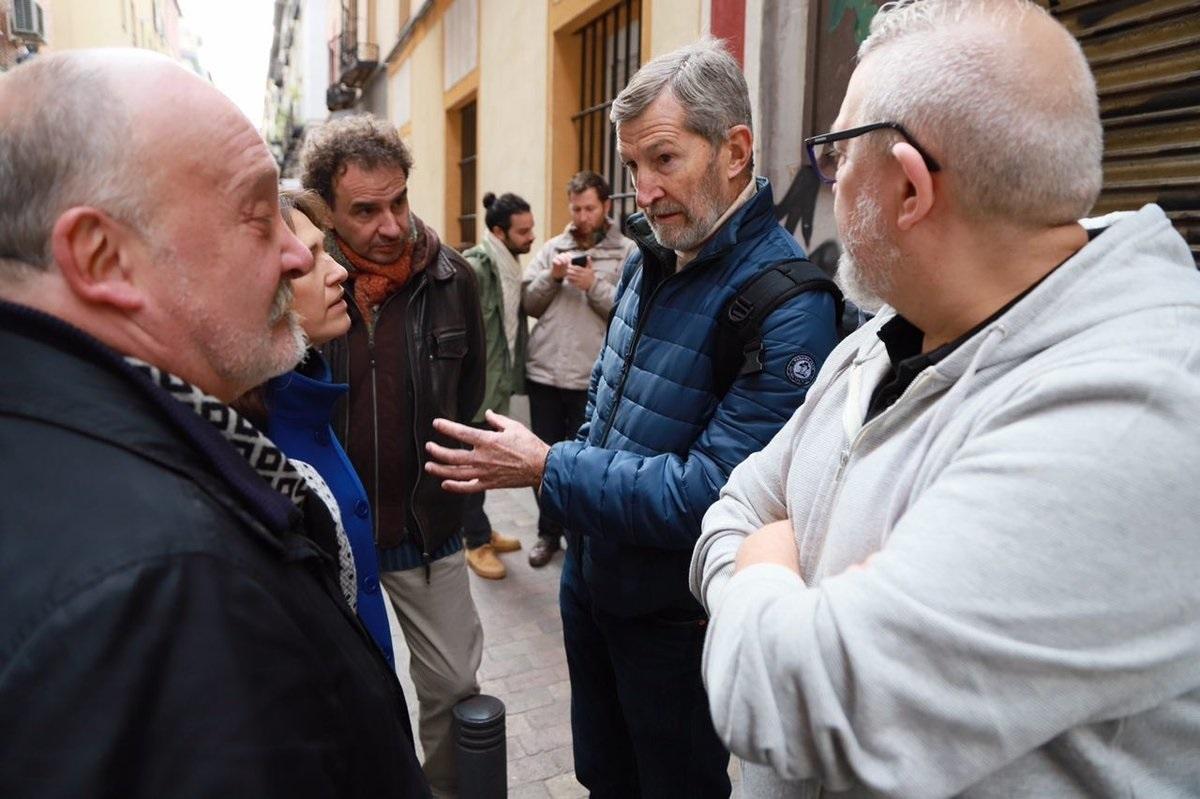 Julio Rodríguez en un acto en el barrio de Las Letras, en Madrid, en diciembre de 2017.