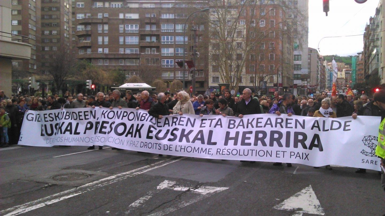 Manifestación por las víctimas de ETA.