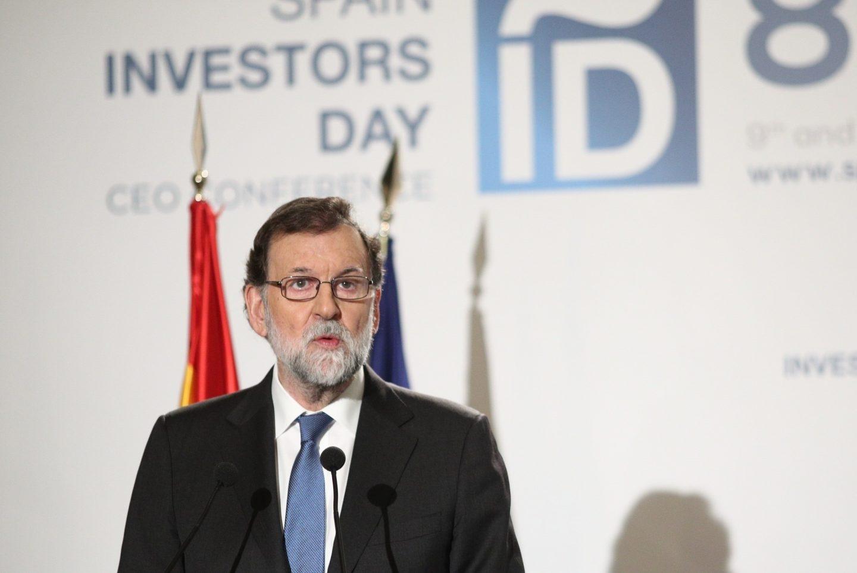 El presidente del Gobierno, Mariano Rajoy, durante la inauguración del foro Spain Investors Day.