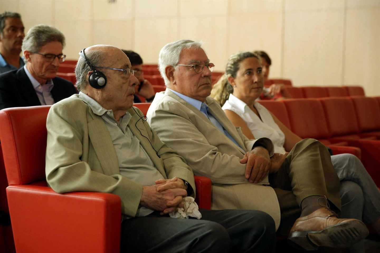 Félix Millet, Jordi Muntull y Gema Muntull en la última sesión del juicio.