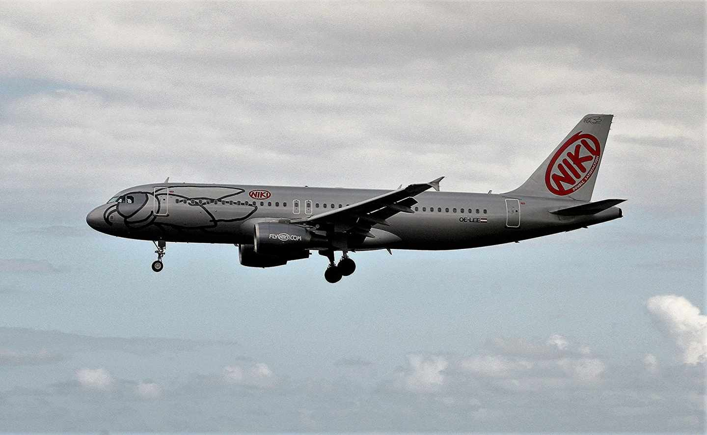 Un avión de la aerolínea Niki.