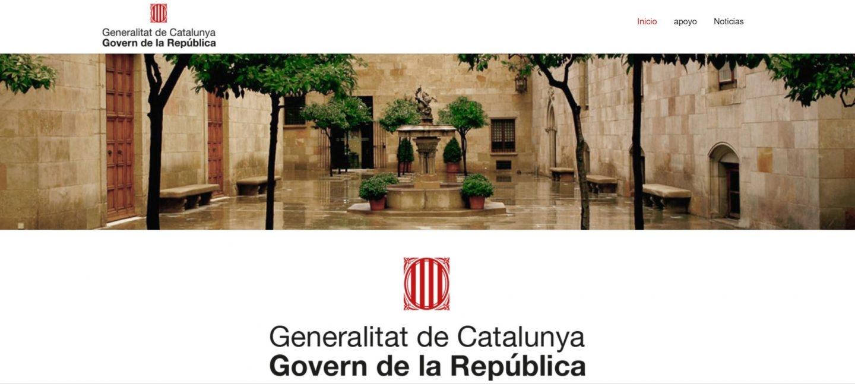 Puigdemont ha anunciado una nueva web del Govern paralela a la oficial.