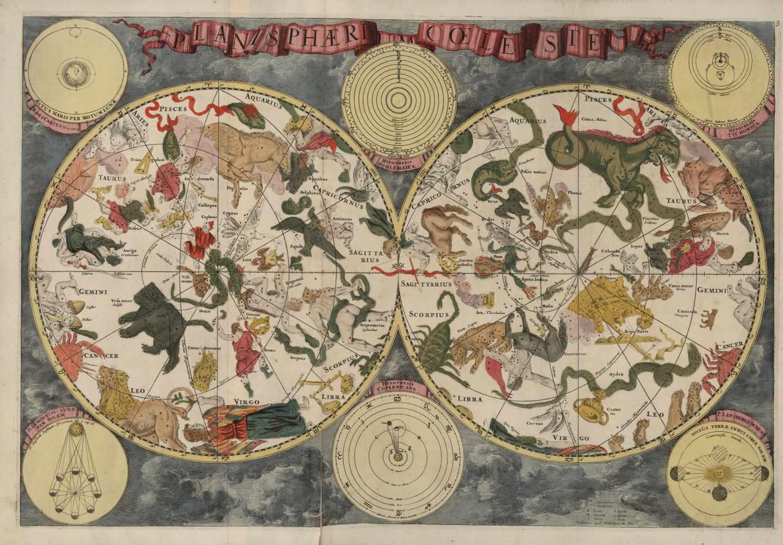 Planisferio celeste; Frederick de Wit, BNE, ca. 1688