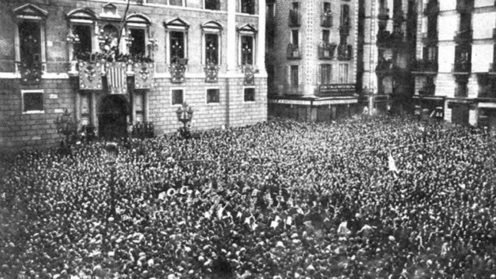 Pl. Sant Jaume, proclamación de la República de 1931