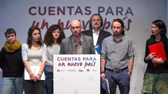 Un momento de la presentación de Podemos.