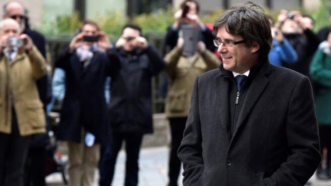 Puigdemont, de paseo por Bruselas