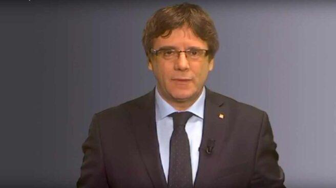 Carles Puigdemont, en un vídeo desde Bruselas.
