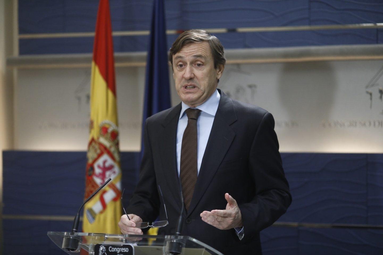 Rafael Hernando, en el Congreso de los Diputados.