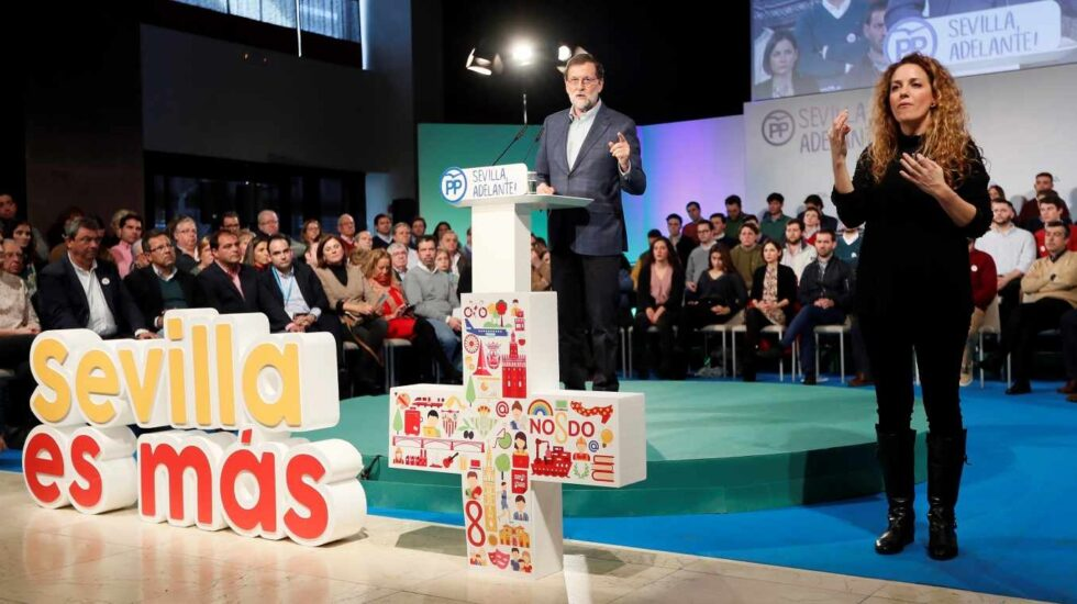 Mariano Rajoy, durante su intervención.