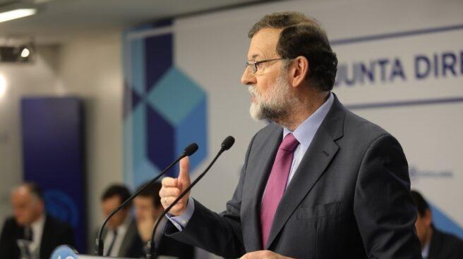 Rajoy, durante la reunión de la Junta directiva del PP de este lunes
