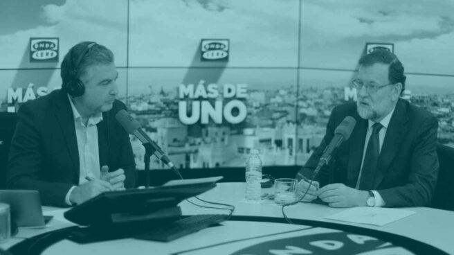 Mariano Rajoy y Carlos Alsina durante la entrevista de este miércoles.