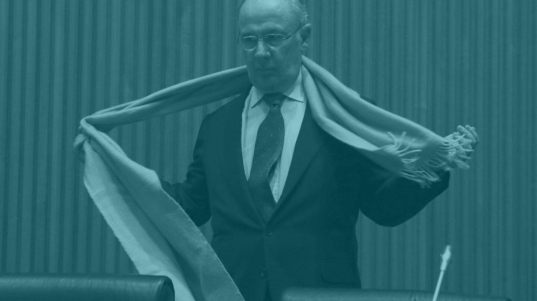 Rodrigo Rato, tras su comparecencia.