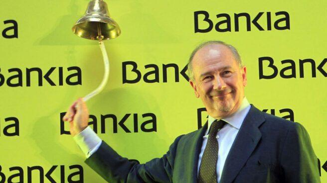 Rodrigo Rato en la salida a bolsa de Bankia, en 2011.