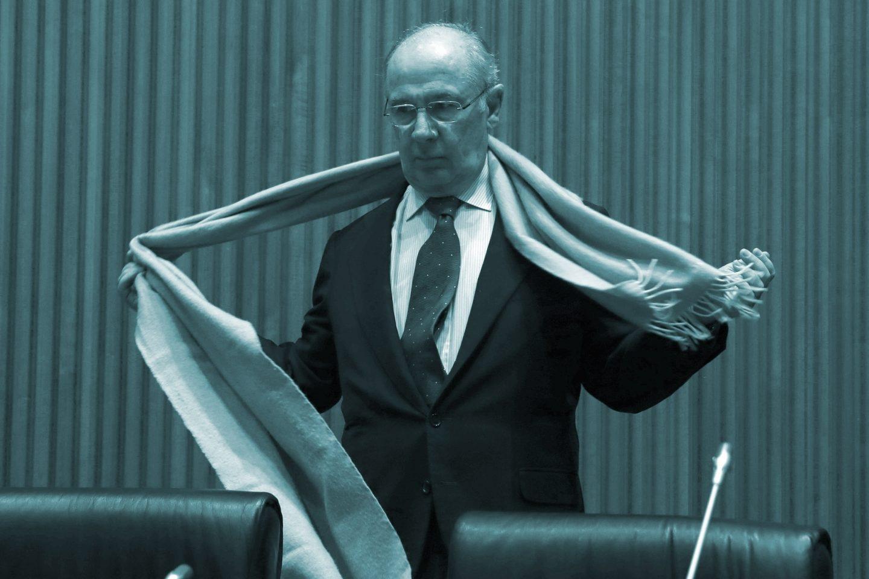 Rodrigo Rato a su llegada a la Comisión de investigación de la crisis financiera y rescate bancario del Congreso de los Diputados.