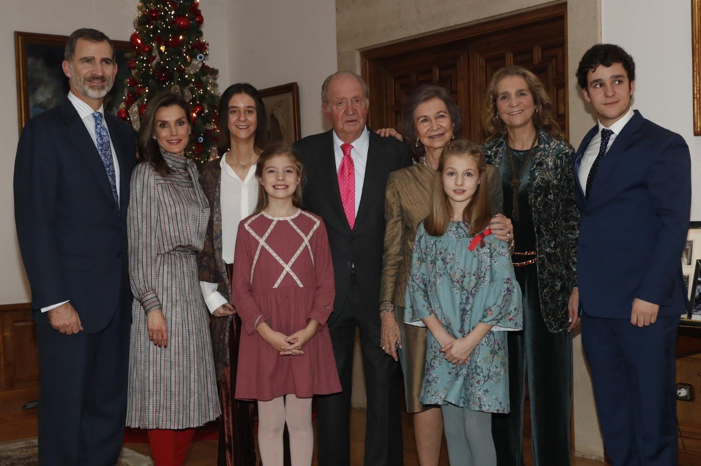 Almuerzo de la Familia Real con motivo del 80 aniversario de Su Majestad el Rey Don Juan Carlos.